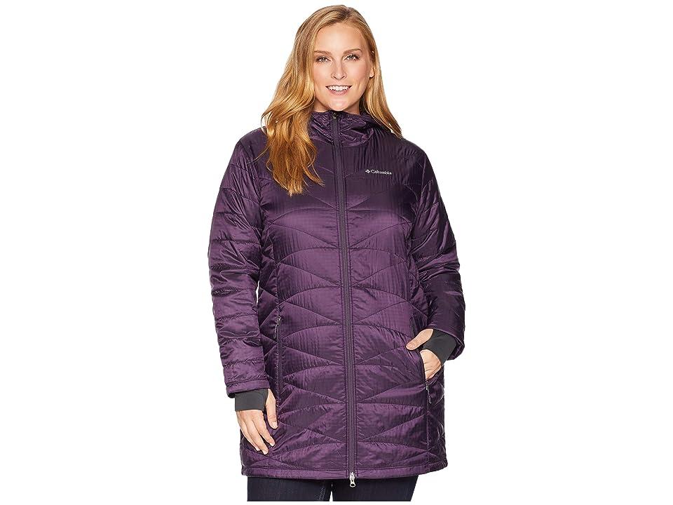 Columbia Plus Size Mighty Litetm Hooded Jacket (Dark Plum) Women