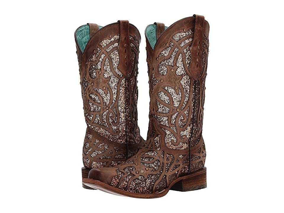 Corral Boots C3275 (Brown/Orix Glitter) Cowboy Boots