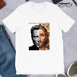 Walken with Jesus Head Christ Funny Parody Walking Actor Movie Cinema Vintage Gift Men Women Girls Unisex T-Shirt