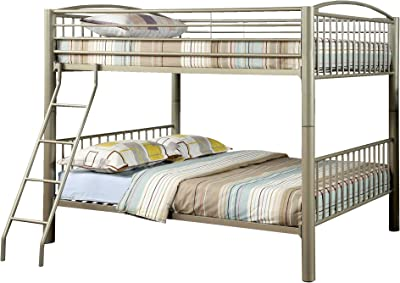 HOMES: Inside + Out IDF-BK1037F Metallic Brillia Bunk Bed Full Gold