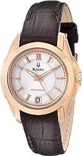 Bulova - Reloj de Mujer 97M104 Precisionist Longwood de Cuero marrón Tono Rosa