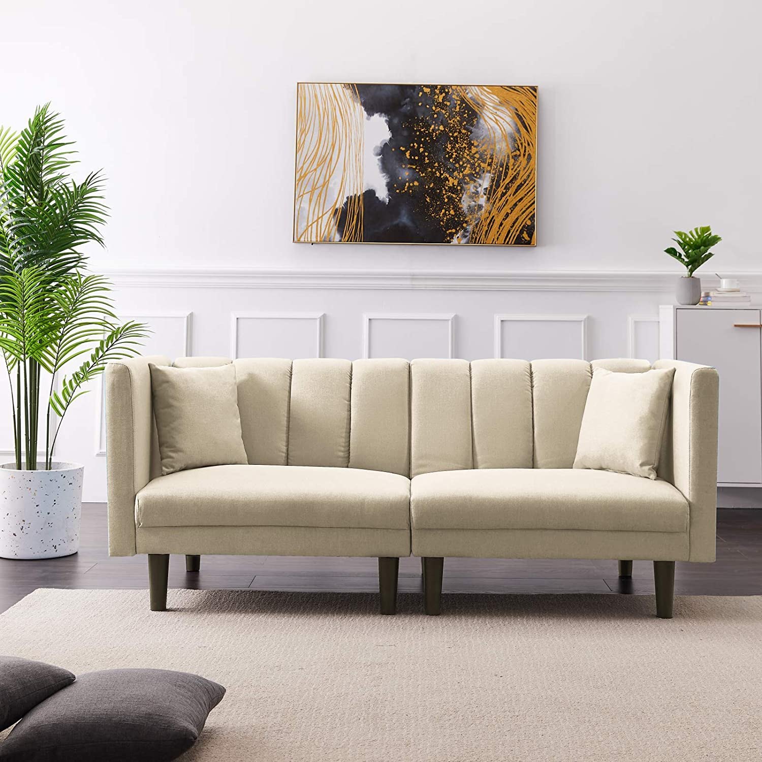 Sectional Couch Futon Sleeper OFFicial shop Sofa Bed Convertible Loveseat Special sale item with