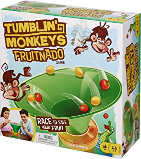Mattel Games GDJ90 Tumblin' Monkeys Fruitnado Kids Game with Tongs and Marbles, Gift for 5 Year Olds and Up, Multicolour, ...