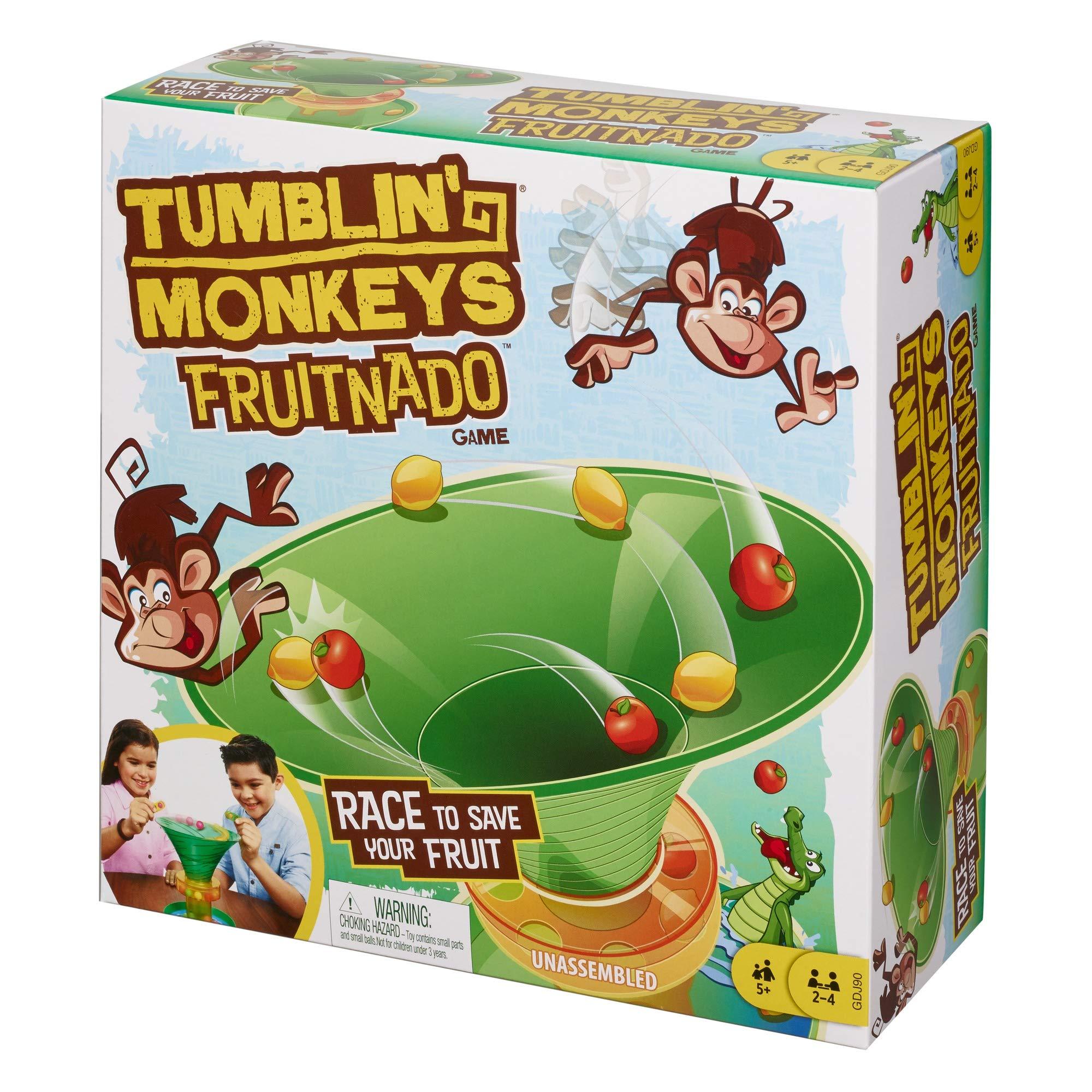 Mattel Games GDJ90 Tumblin Monkeys Fruitnado Kids Juego con Pinzas y canicas, Regalo para niños de 5 años y más, Multicolor, 8 Pulgadas: Amazon.es: Juguetes y juegos