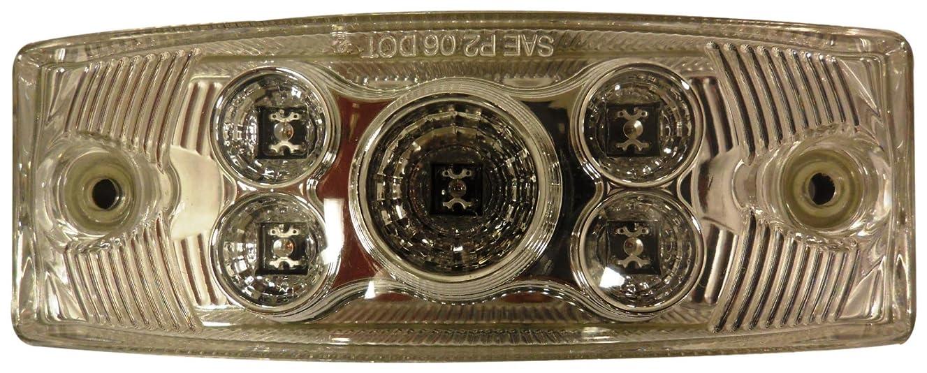 Autosmart KL-15113C-R Red Rectangular LED Side Marker Light with Clear Lens