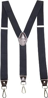 JIERKU جوراب های مردانه با قلاب Swivel در کمربند Loops وظیفه سنگین Big and Tall Adjustable Braces