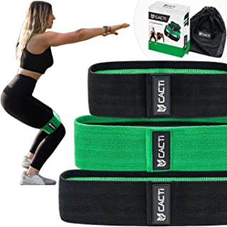 Fabric Resistance Bands Exercise Set - Gym Equipment for Home Workouts - 3 Booty Bands for Legs, Butt, Hips, Glutes, Abs, Shoulders & Arms - Non Slip & Non-Rolling