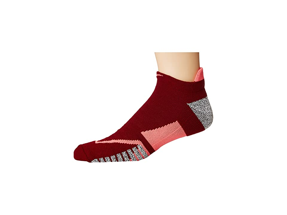 Nike NIKEGRIP Elite No Show Tennis Socks (Team Red/Hot Punch/Hot Punch) No Show Socks Shoes