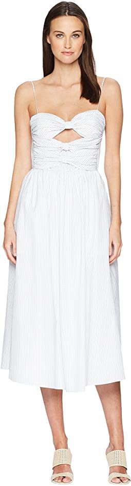 Striped Cotton Cami Dress w/ Knotted Bodice
