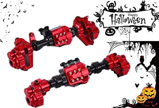RZXYL Traxxas Front and Rear Axle TRX4 Crawler Accessories 1/10 RC Car Aluminum Alloy Housing Set Red