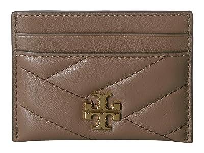 Tory Burch Kira Chevron Card Case (Classic Taupe) Wallet Handbags
