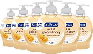 Softsoap صابون دست دوم مایع، شیر و عسل - 7.5 اونس (بسته 6)