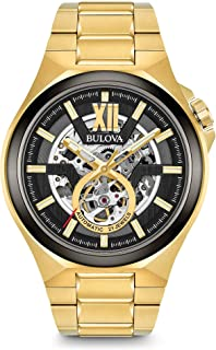 Bulova - Reloj Analógico para Hombre de Automático con Correa en Acero Inoxidable 98A178