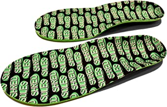 Shred Soles Skateboarding Shoe Insoles - Comfortable Insert, Increases Stability, Impact Resistance, Antimicrobial = No Stink - Risk Free Guarantee