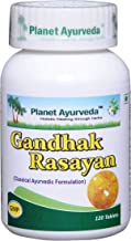 Planet Ayurveda Gandhak Rasayan Vati- Herbal Supplement for Skin Rejuvenation | Clears Blood Impurities | Reduce Acne & Ac...