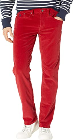 Slim Straight Corduroy Pants