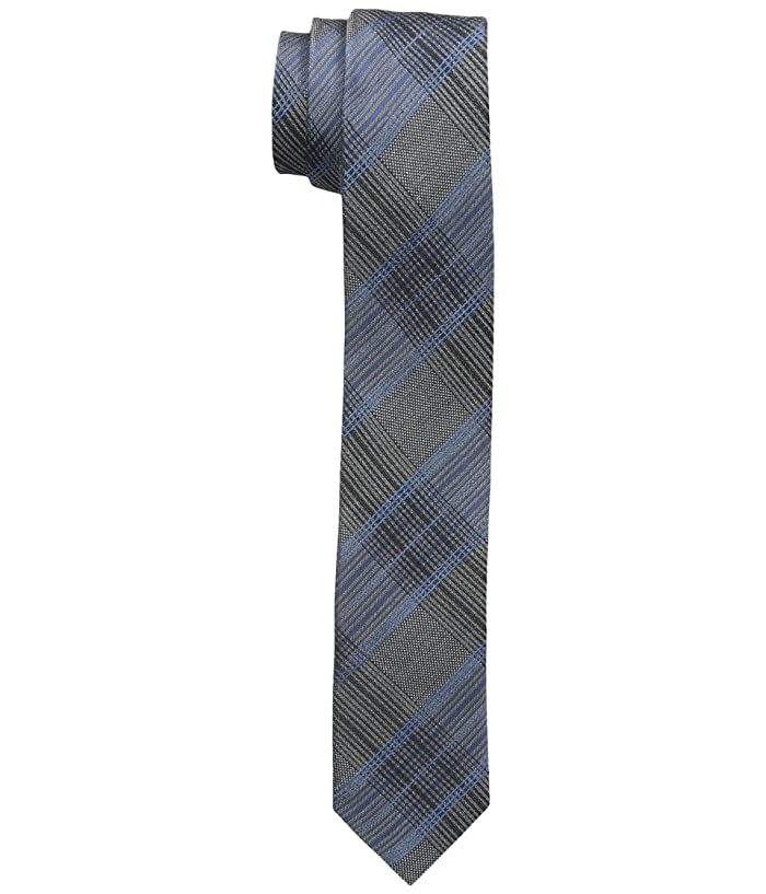 Calvin Klein  Platinum Suiting Plaid (Slate Blue) Ties