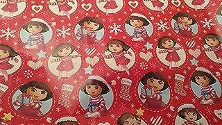 Christmas Wrapping (Bonus Jiggy Themed Writing Tool) Holiday Paper Gift Greetings 1 Roll Design Festive Dora The Explorer