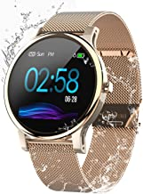 Smart Watch for Android and iOS Phone,with All-Day Heart Rate and Activity Tracking,IP68 Waterproof,Sleep Monitoring,Ultra-Long Battery Life, SMS Smartphone Notifications(New Version)