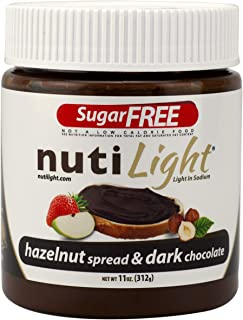 Nutilight Sugar-Free Keto-friendly Hazelnut Spread and Dark Chocolate 11 Ounces (Pack of 1)