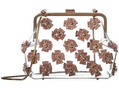 ZAC Zac Posen Floral Love Frame Clutch Glass (Mineral) Handbags
