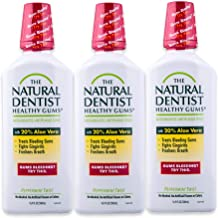 The Natural Dentist Healthy Gums Mouth Wash, Peppermint Twist, 16.9 Fl Oz (Pack of 3)