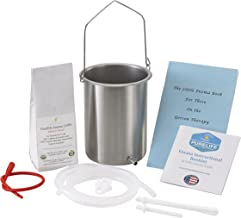 PureLife Coffee Enema Kit / Made in USA/ 304 Stainless Steel Enema Bucket/ Medical Grade Silicone Tubing/ 1/2 Lb Organic Enema Coffee / Doctors Choice