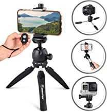 KobraTech Cell Phone Tripod for Phone & Cameras | The VersaPod Mini Tripod – Extendable Legs, Ball Head & Bluetooth Remote