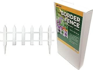 allFENZ White Vinyl Picket Border Fence 12