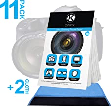 Camkix Lens Cleaning Paper Tissue 11x booklets/550 Sheets + 2X Double Sided Cleaning Cloth - Lens Cleaning Paper for Use on Camera Lenses - Double-Sided Cleaning Cloth for Use on Electronic Screens