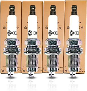 Genuine Set of 4 Spark Plugs for Volkswagen Audi 2.0 L Engine, 101905617 Genuine Vehicle Part Manufactured in Germany Made to Increases the Fuel Efficiency