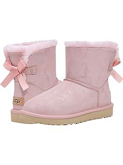 Women's Wedge Heel Pink Boots + FREE