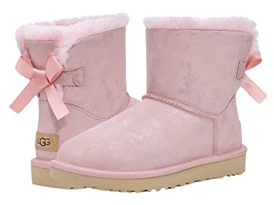 UGG Mini Bailey Bow II Shimmer (Pink Cloud) Women