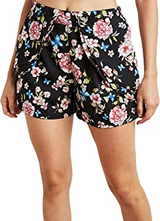 Floral Printed Layered Flippy Shorts For Women Closet by Styli