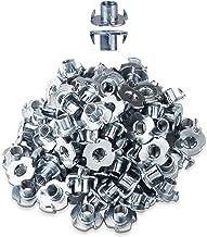 LIKERAINY 4 Delige T-moeren M12 x 17mm Metalen T Moer Meubels Schroefdraad Inzetstukken voor Houtbewerking Klimmen Houdt M...
