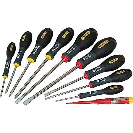 Set Stanley FatMax 0-65-439 Destornilladores FatMax-Juego 10 Piezas Plana//Phillips