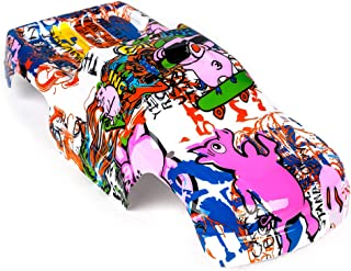 Compatible Custom Body Graffiti Pink Pig Style Replacement for 1/10 Scale RC Car or Truck (Truck not Included) ST-PIG-01