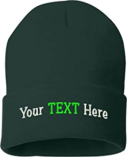 Peerless Beanie Hat with Custom Embroidery Your Text Here or Logo Here One Size SP12