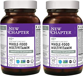 New Chapter 40+ Every Man's One Daily Multi Whole-Food, Fermented, Multivitamin from Organic Vegetables, Herbs with Nutrie...