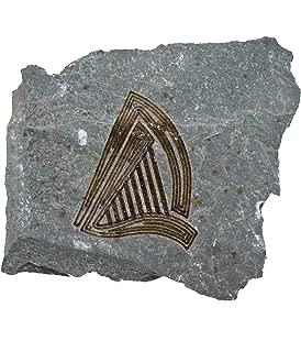 MyStones Engraved Irish Stone Harp
