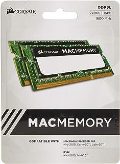 ذاكرة لاب توب CMSA16GX3M2A1600C11 موثقة من ابل 16 جيجا (2x8 جيجا) دي دي ار 3 1600 ميجاهيرتز (بي سي 3 12800) بقدرة 1.35 فول...