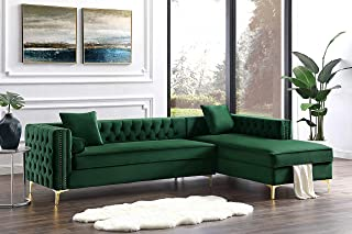 Best green velvet sectional couch Reviews
