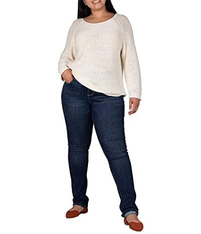 Jag Jeans Plus Size Ruby Pull-On Straight Leg Jeans (Seaport Blue) Women