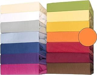 CelinaTex Lucina bébé Enfants Drap-Housse Berceau Lite Enfant Coton 2er-Set 60x120-70x140 cm Orange