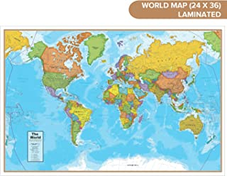 Waypoint Geographic Blue Ocean World Wall Map (24