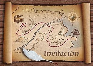Nutex caminar por la plancha pirata mapa del tesoro Bronceado Tela por 1//4 Metro