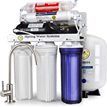 iSpring RCC7P-AK Boosted Performance Under Sink 6-Stage Reverse Osmosis Drinking Filtration System and Ultimate Water Soft...