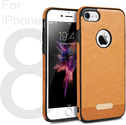 c51bb76f3b iPhone 8 Slim Leather Case By EJZO  Thin Protective Cover With Genuine  Leather   Flexible