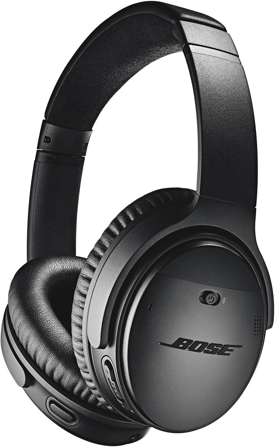 Bose QuietComfort 35 II Wireless Bluetooth Headphones, Noise-Cancelling, with Alexa Voice Control - Black