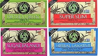 TRIPLE LEAF TEA VARIETY (PACK OF 4; DIETER'S GREEN, SUPER SLIM, HERBAL LAXATIVE, SUGAR BALANCE)